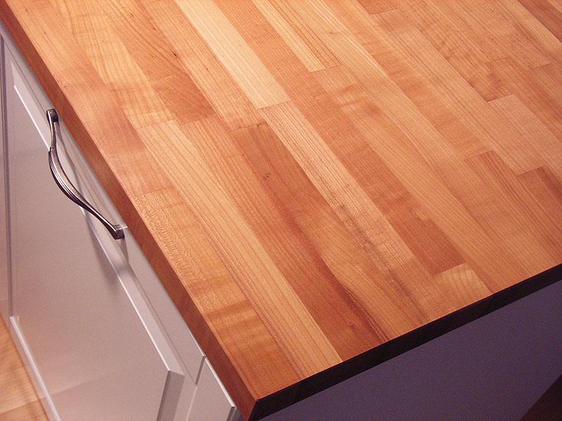 Arbeitsplatte / Küchenarbeitsplatte Massivholz Kirschbaum / Kirsche kgz  FSC® 40/4100/650