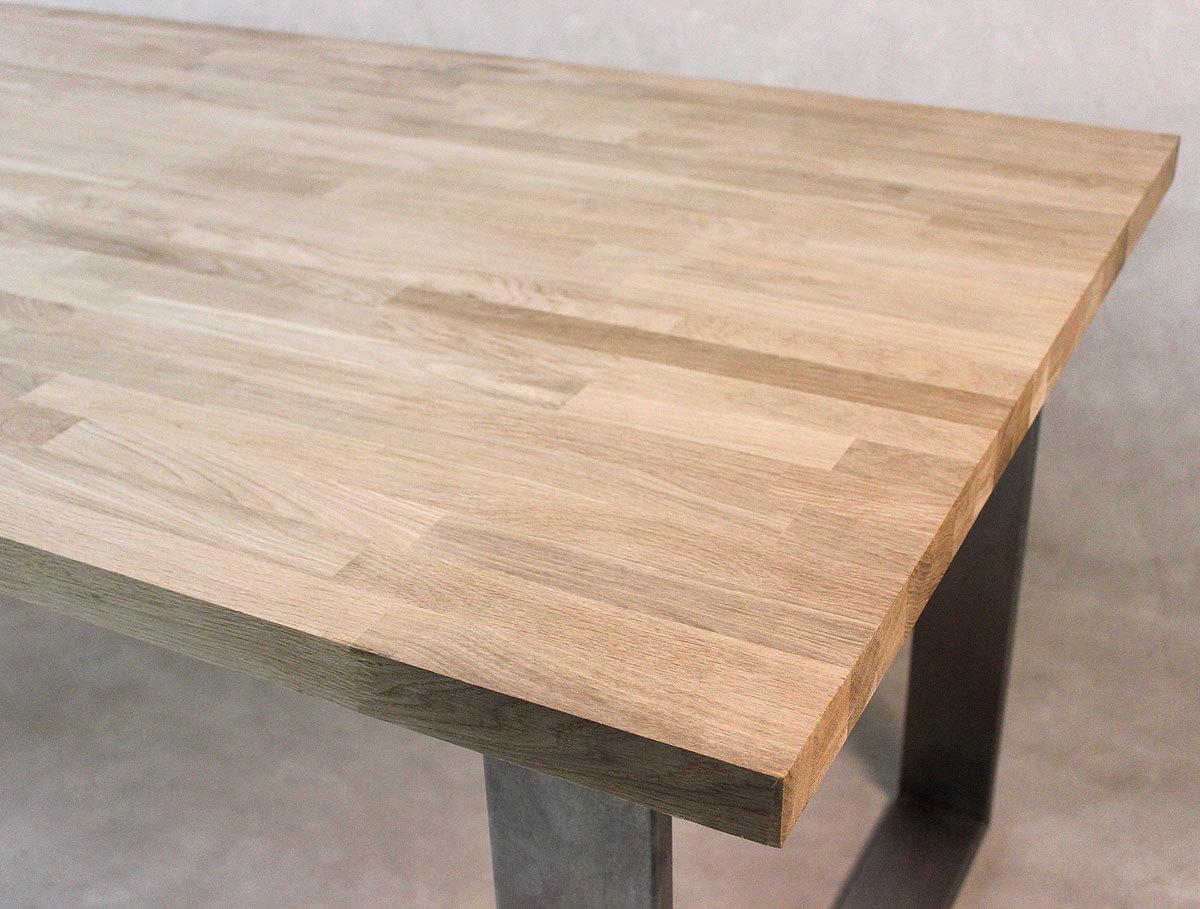tischplatte massivholz eiche kgz 27 1700 750. Black Bedroom Furniture Sets. Home Design Ideas
