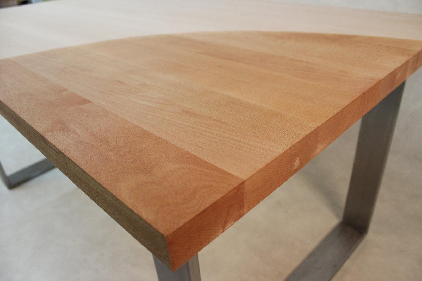 Tischplatte massivholz buche dl fsc 40 2200 1000 for Tischplatte massivholz