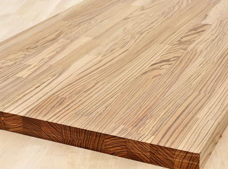 arbeitsplatte k chenarbeitsplatte massivholz zebrano kgz 40 4100 650. Black Bedroom Furniture Sets. Home Design Ideas