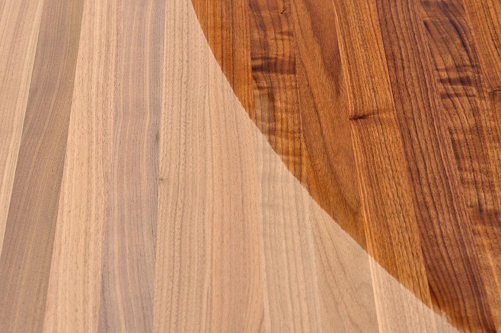 Tischplatte holz massivholz schwarznuss black walnut for Küchenarbeitsplatten massivholz