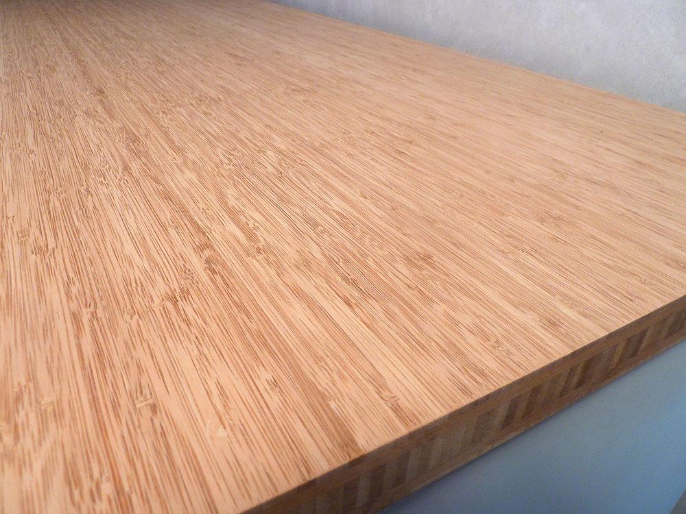 Arbeitsplatte / Küchenarbeitsplatte Massivholz Bambus ...