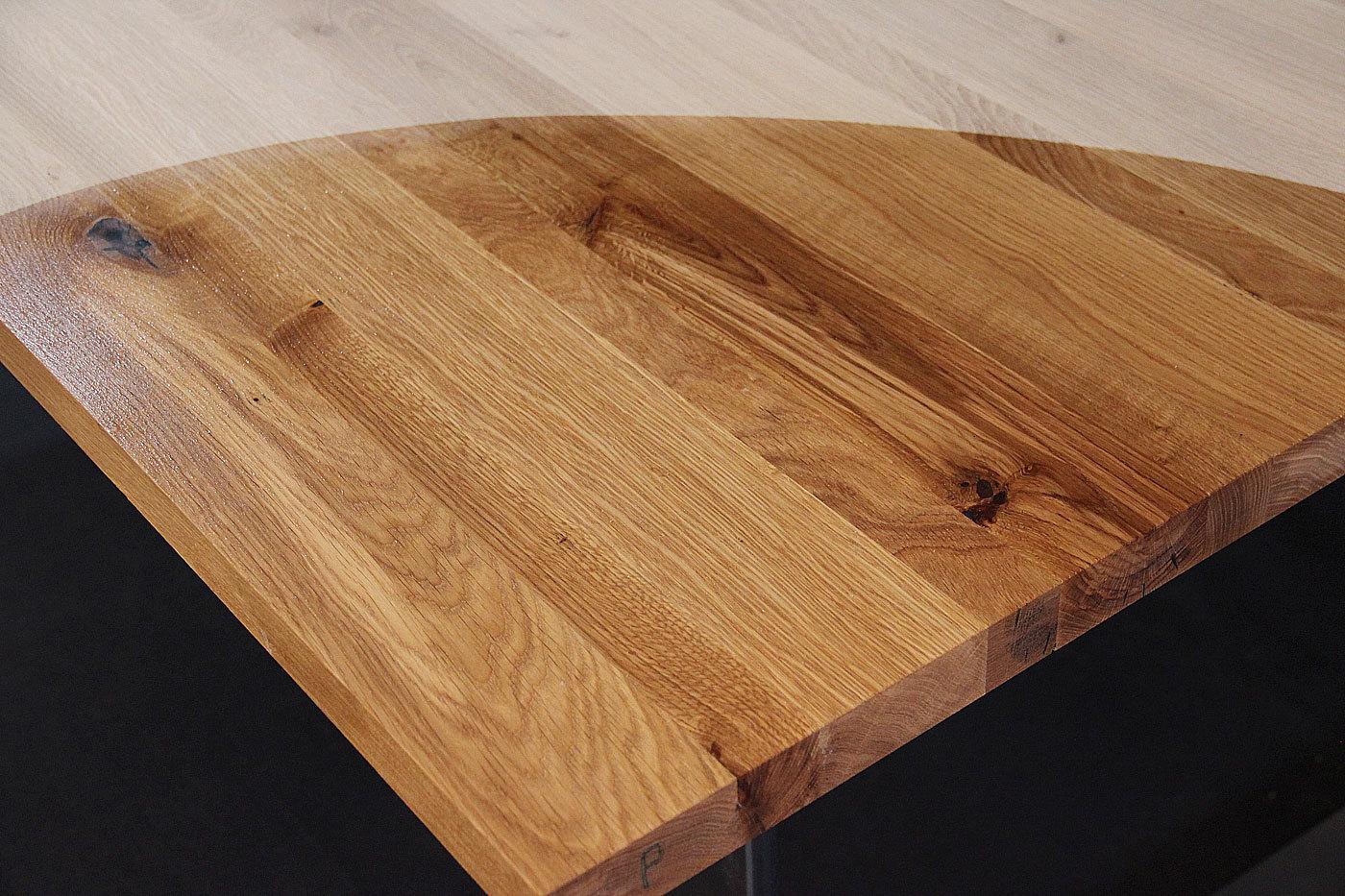 Tischplatte massivholz wildeiche asteiche dl 40 1800 900 for Massivholz tischplatte