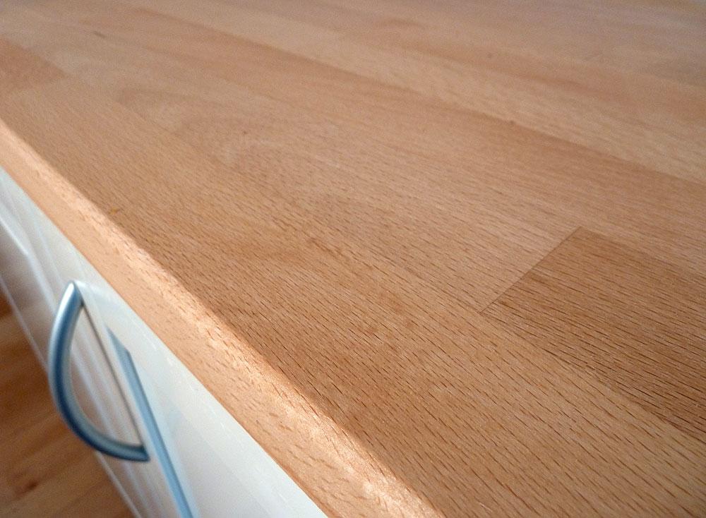 Arbeitsplatte / Küchenarbeitsplatte Massivholz Buche kgz FSC® 40 ...