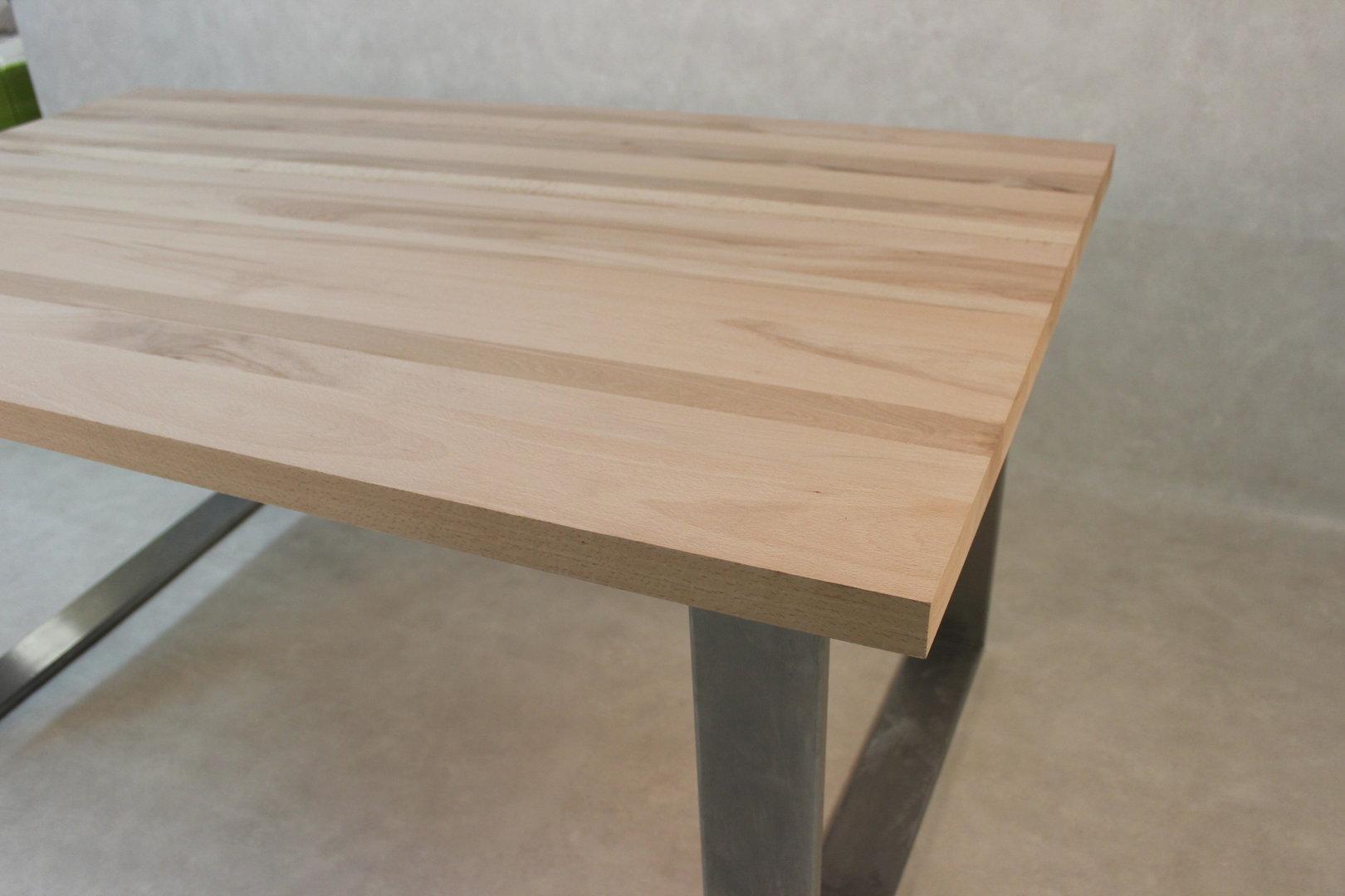 Tischplatte massivholz kernbuche dl fsc 40 x diverse for Massivholz tischplatte