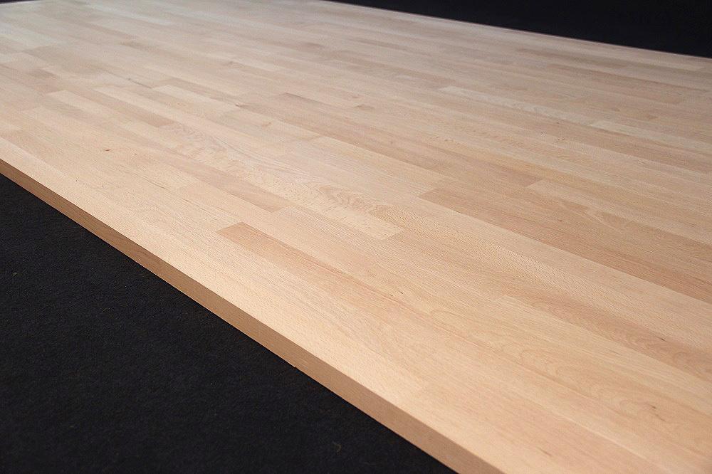 ... Massivholz Buche kgz FSC® 26/40 x 4200 x 600/800 mm