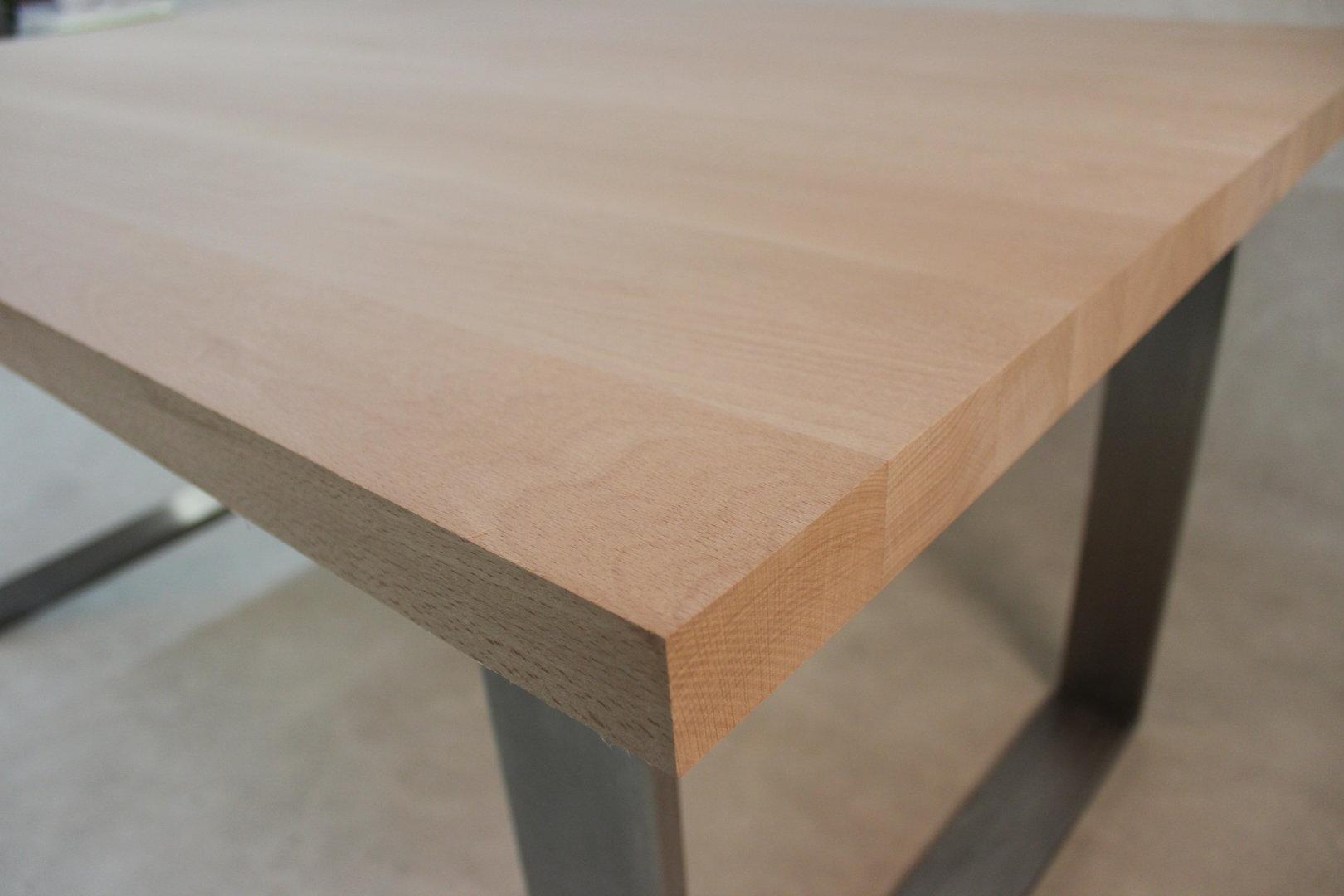 Tischplatte Massivholz Buche Dl Fsc 40 1800 1000