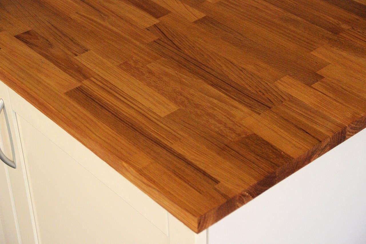arbeitsplatte k chenarbeitsplatte massivholz teak kgz 36 3000 650. Black Bedroom Furniture Sets. Home Design Ideas