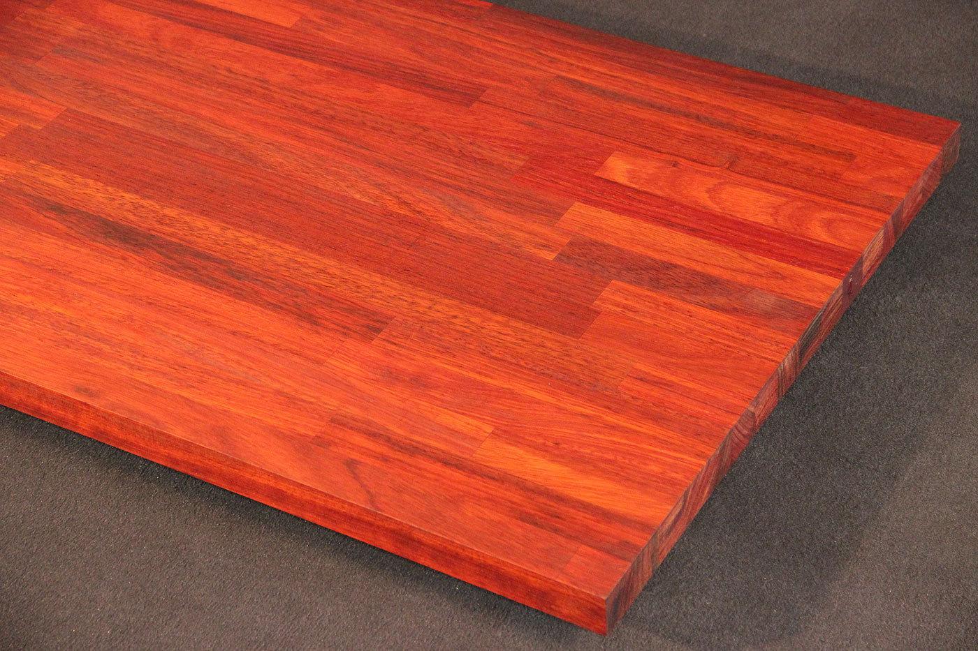 arbeitsplatte k chenarbeitsplatte massivholz padouk 40 4100 650. Black Bedroom Furniture Sets. Home Design Ideas