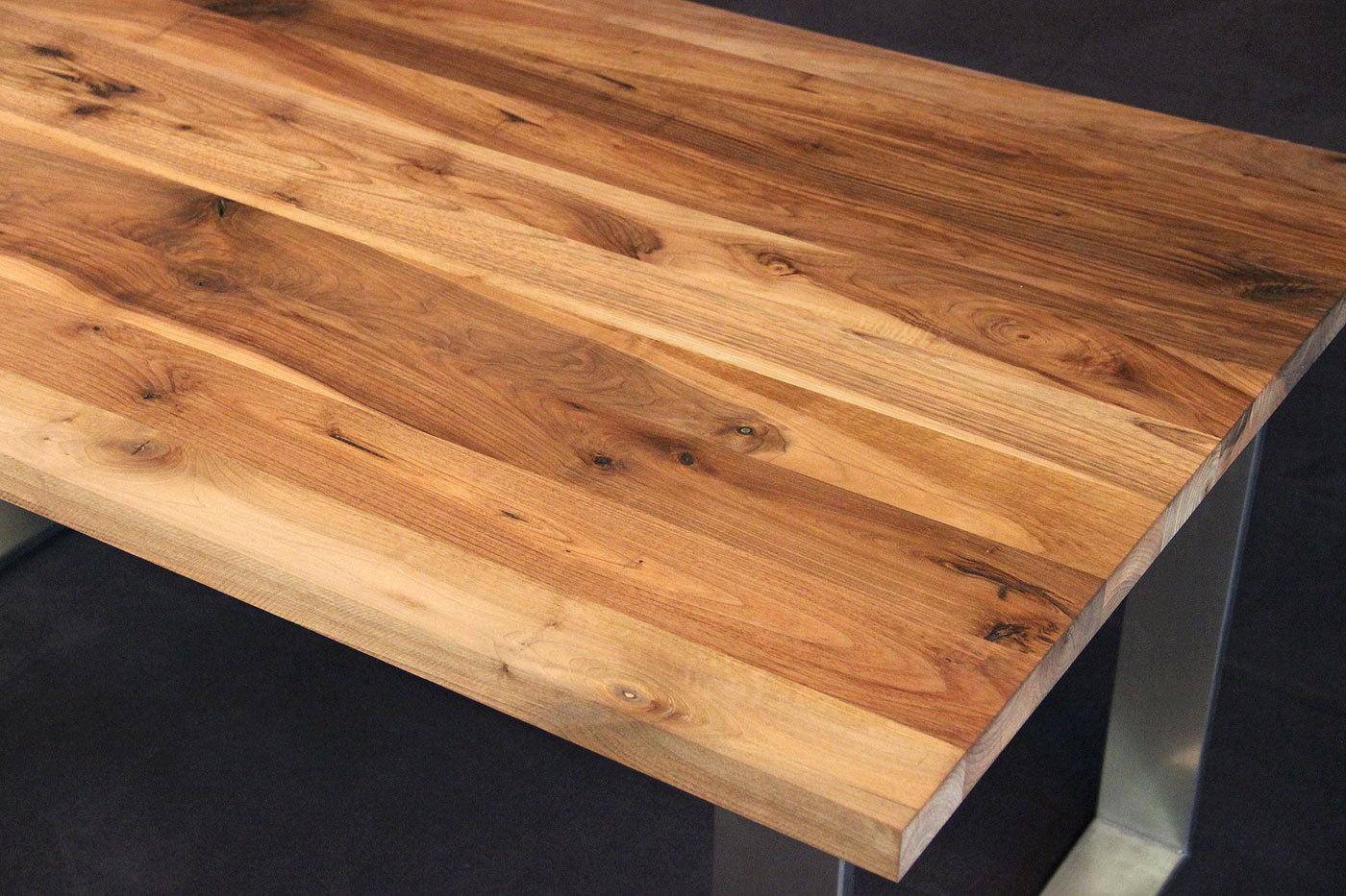 Tischplatte Massivholz Nussbaum ~ Tischplatte Massivholz Kaukasischer Nussbaum Rustikal mit Splint DL 30