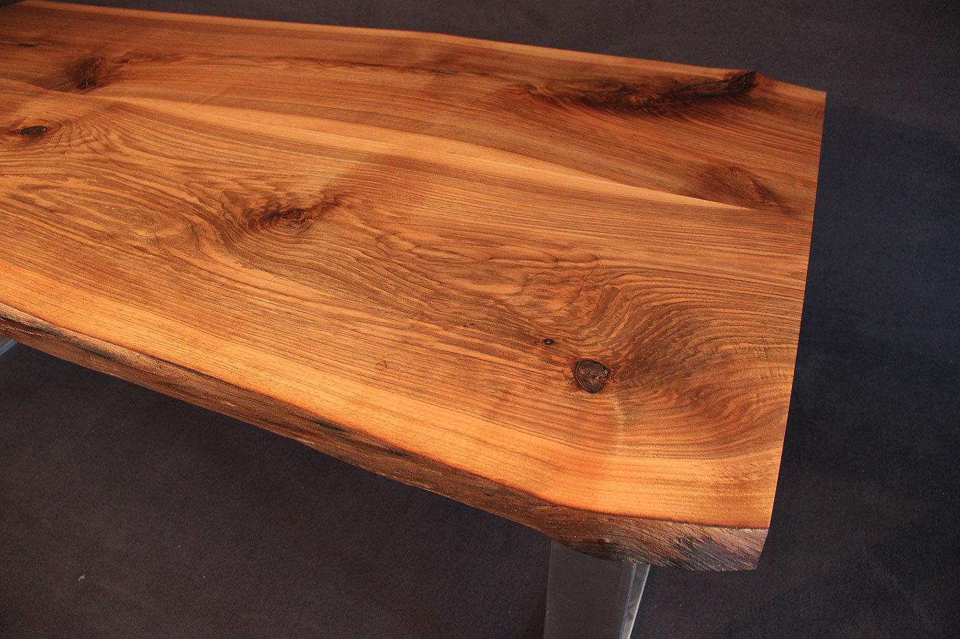 Tischplatte Massivholz Nussbaum ~ Tischplatte mit Baumkante Massivholz Kaukasischer Nussbaum Rustikal