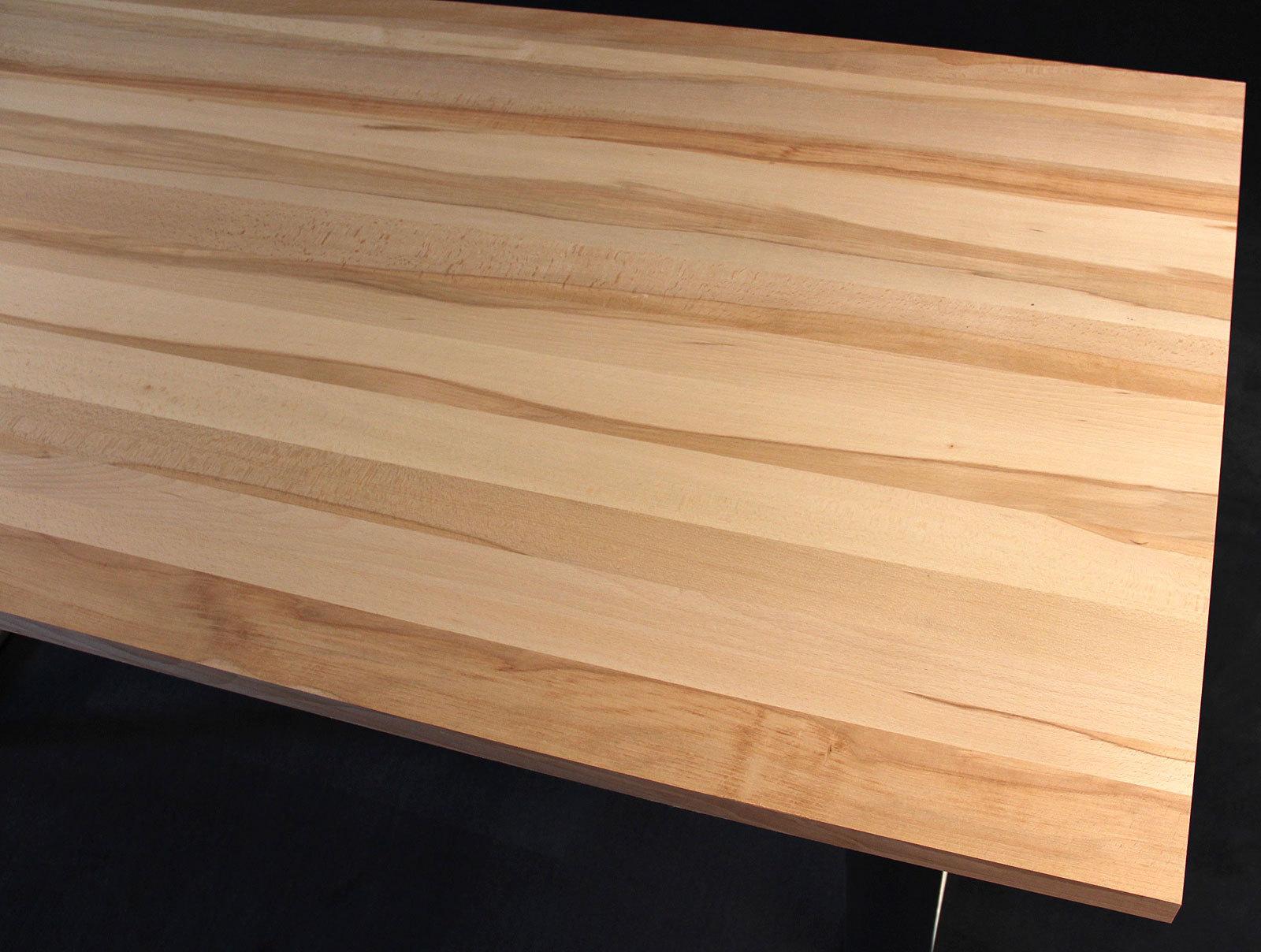arbeitsplatte / küchenarbeitsplatte massivholz kernbuche natur dl 40