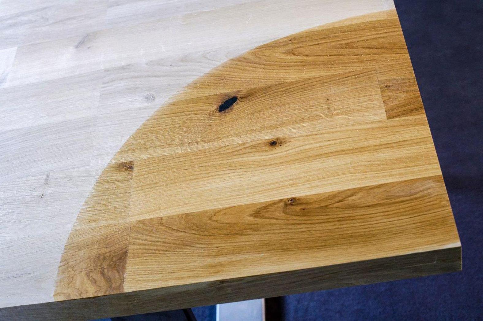 Tischplatte massivholz wildeiche asteiche kgz - Tischplatte ecke ...