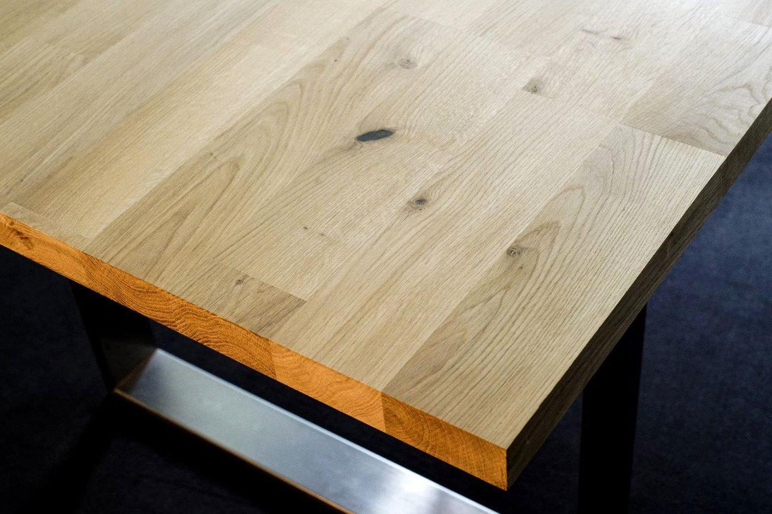 tischplatte massivholz wildeiche asteiche kgz breitlamelle 40 2000 1000. Black Bedroom Furniture Sets. Home Design Ideas