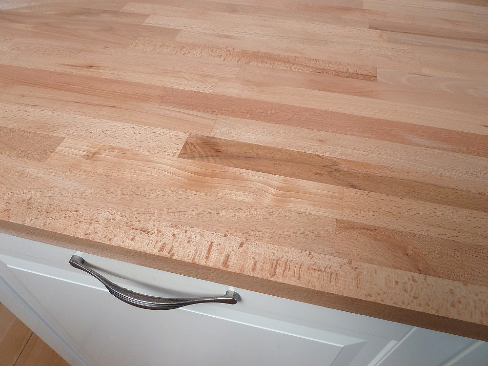 Arbeitsplatte / Küchenarbeitsplatte Massivholz Kernbuche kgz FSC® 40 ...