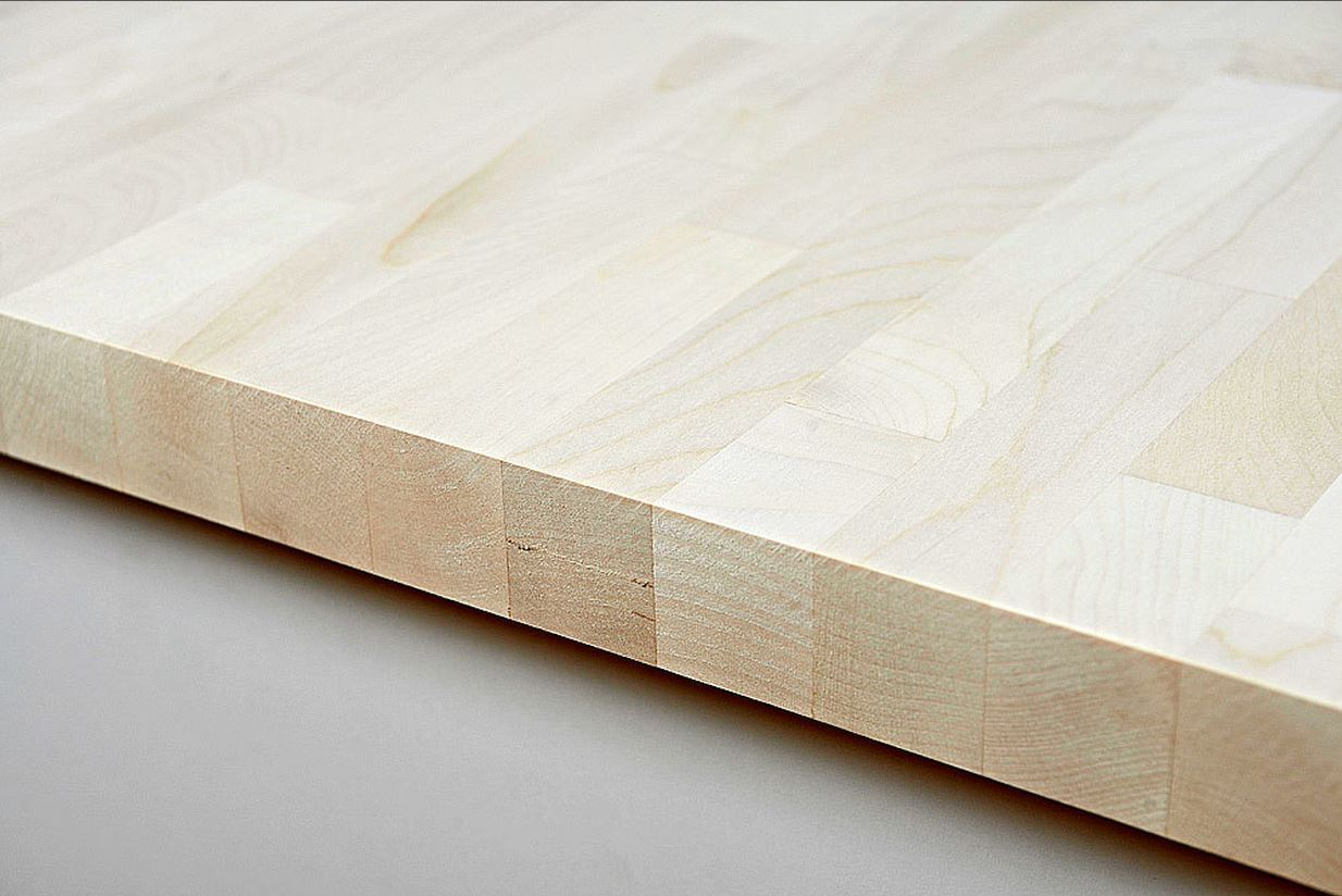 Arbeitsplatte / Küchenarbeitsplatte Massivholz Ahorn kgz FSC® 40 ...
