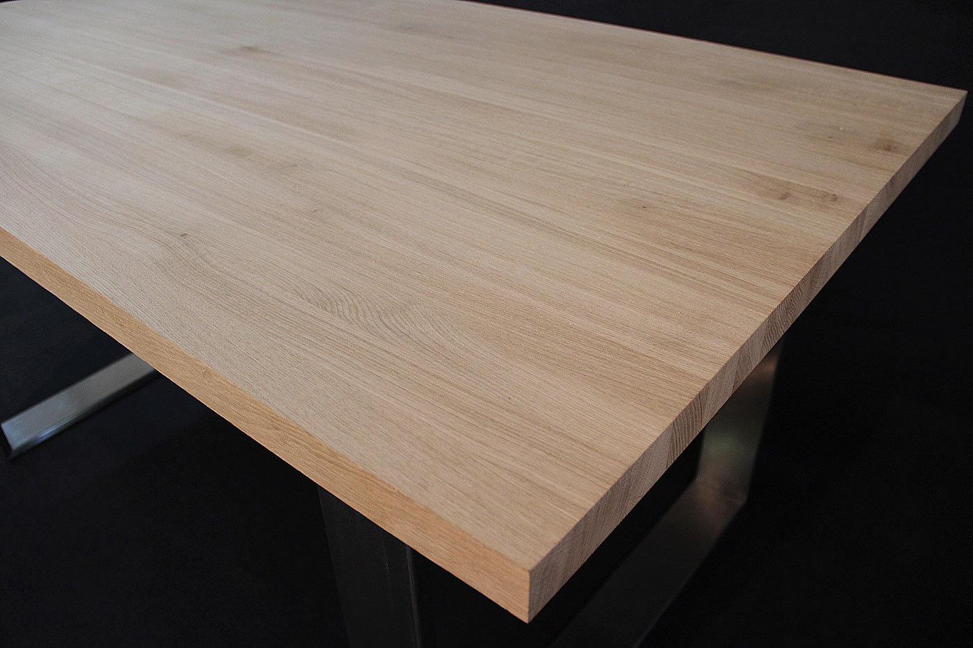 Schreibtischplatte massivholz  Massivholz Eiche DL 40/1800/900