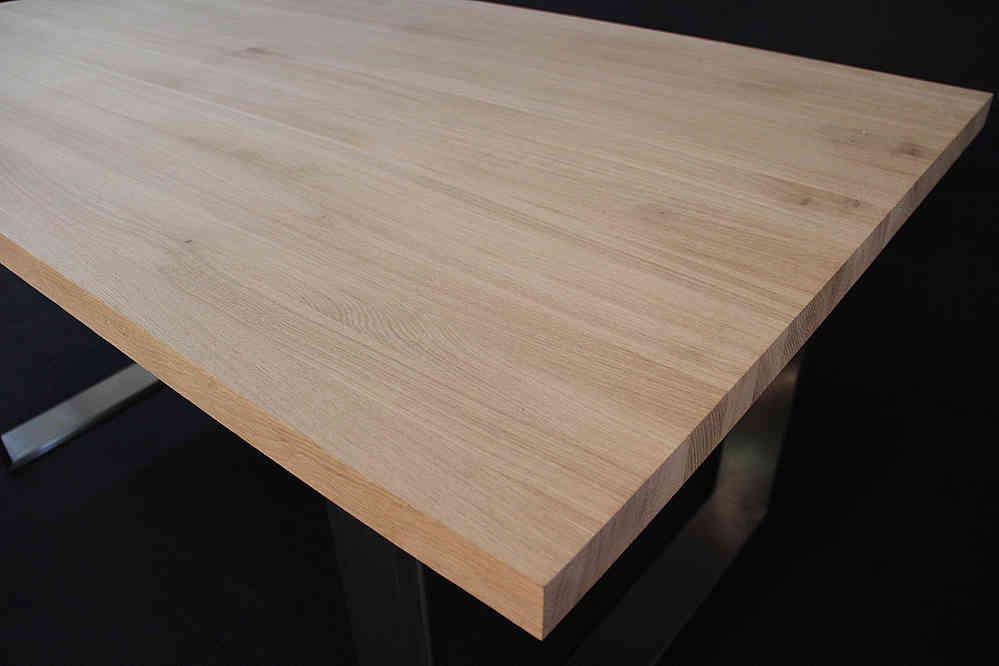 Schreibtischplatte massivholz  Tischplatte Massivholz Eiche DL 40/1800/900