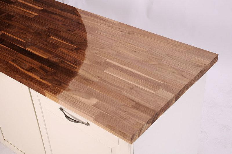 Arbeitsplatte / Küchenarbeitsplatte Amerikanischer Nussbaum ... | {Arbeitsplatte walnuss 6}