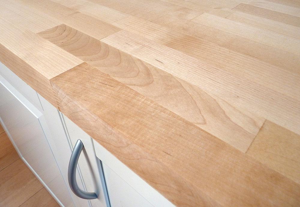 Favorit Arbeitsplatte / Küchenarbeitsplatte Massivholz Birke FSC® 40/4100/650 DB72