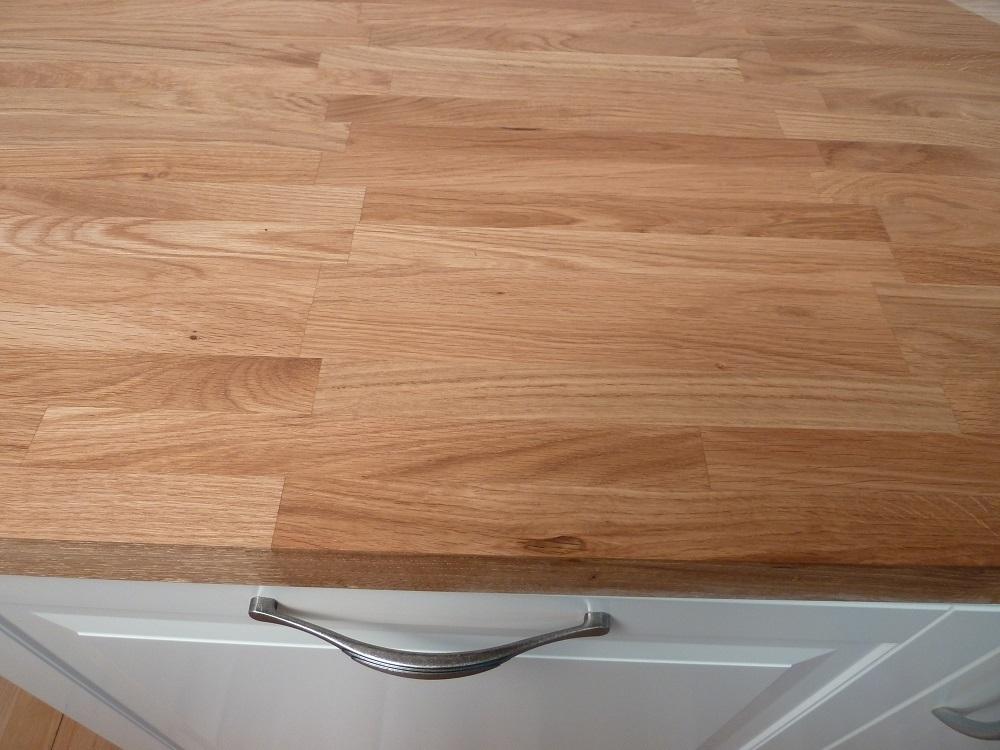 Küchenarbeitsplatte eiche massiv  Küchenarbeitsplatte Massivholz Eiche kgz 40/3050/900