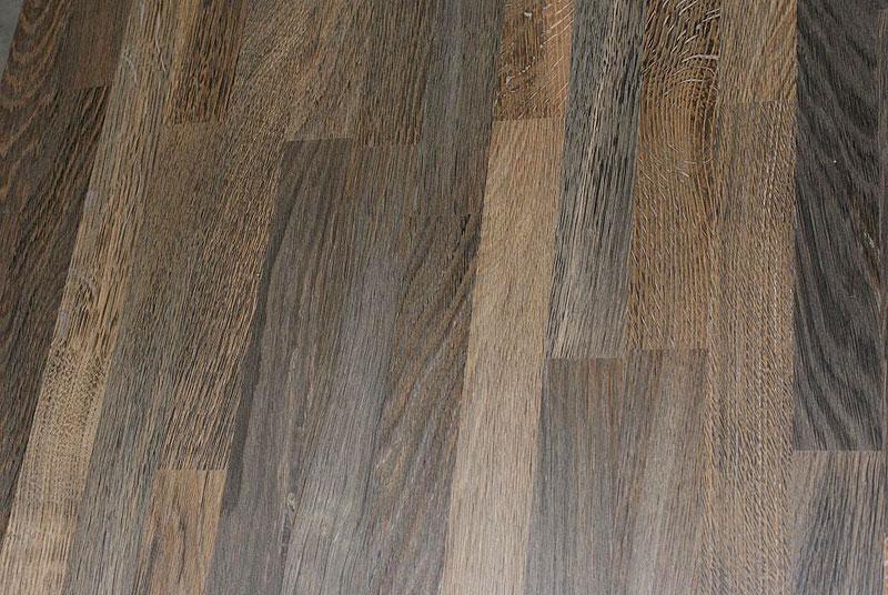 Arbeitsplatte / Küchenarbeitsplatte Massivholz Räuchereiche 40/3050/650