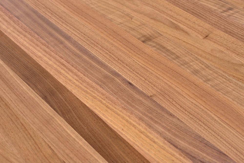 Arbeitsplatten massivholz  Tischplatte Holz / Massivholz Schwarznuss / Black Walnut ...