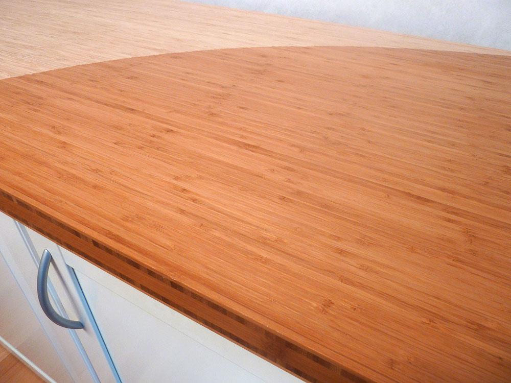Massivholz arbeitsplatte  Küchenarbeitsplatte Massivholz Bambus vertikal coffee 40/3000/700