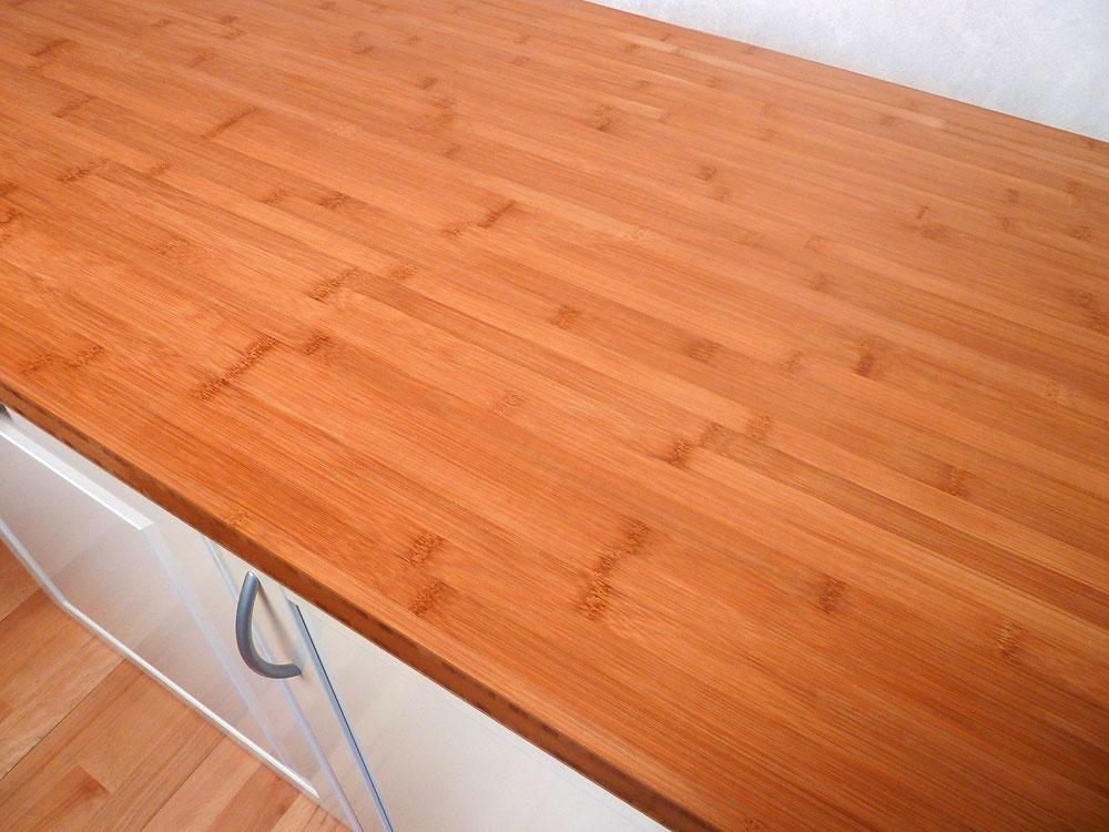 Arbeitsplatte / Küchenarbeitsplatte Bambus horizontal ...