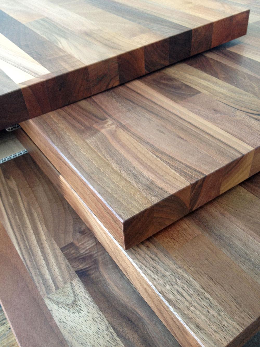 Massivholz arbeitsplatte  Küchenarbeitsplatte Massivholz Europäischer Nussbaum kgz FSC® 40 ...