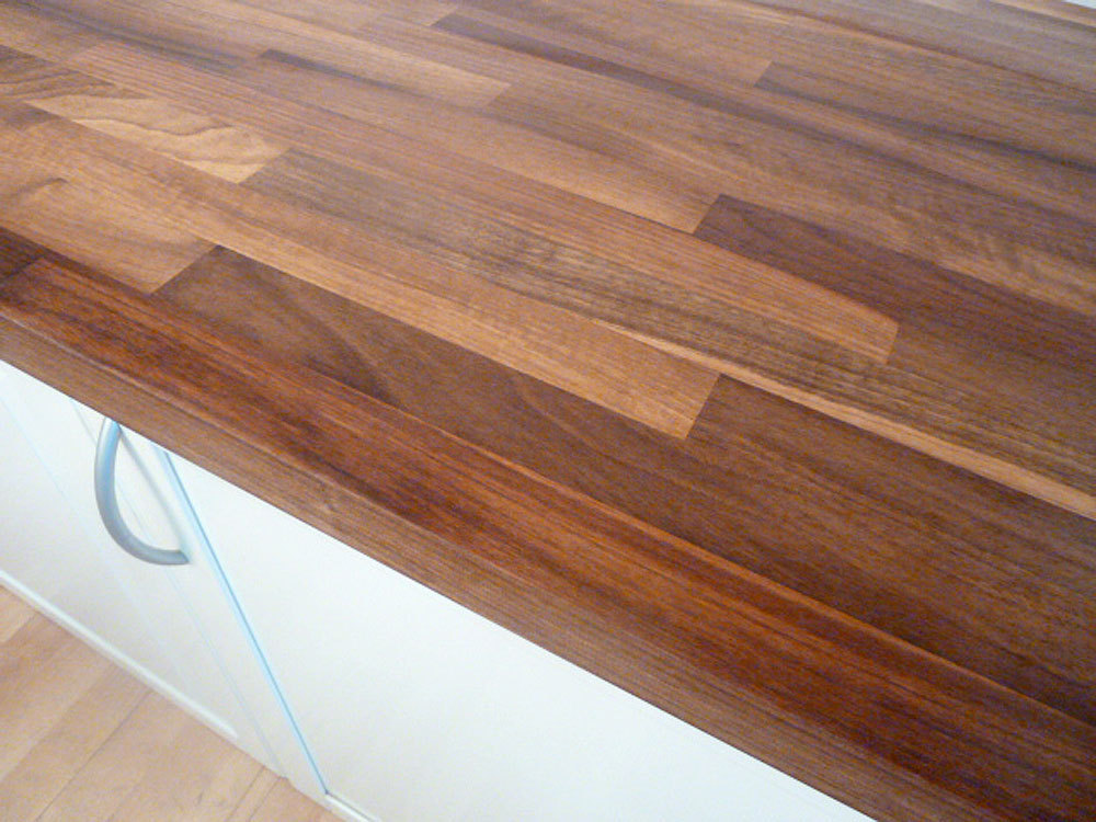 Arbeitsplatte / Küchenarbeitsplatte Massivholz Europäischer Nussbaum ...