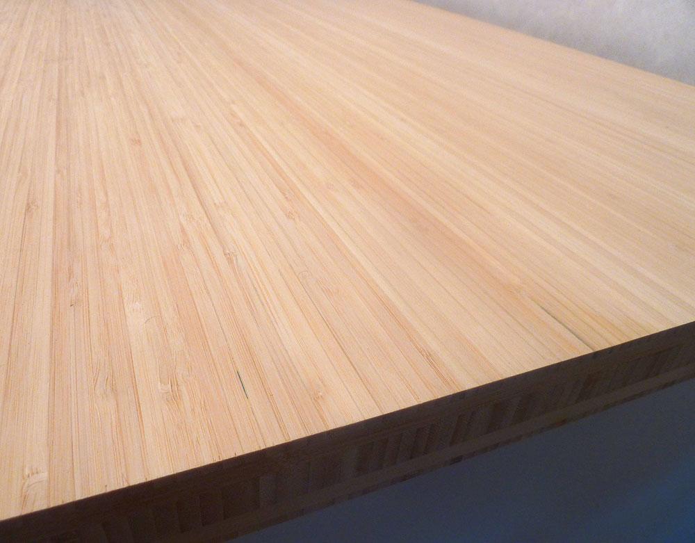 Küchenarbeitsplatte Massivholz Bambus vertikal natur 40/4000/620 | {Küchenarbeitsplatte massivholz 3}