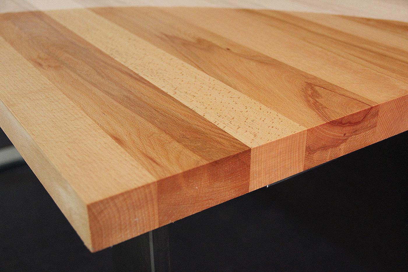 Tischplatte holz natur  Massivholz Kernbuche DL FSC® 40/1600/900