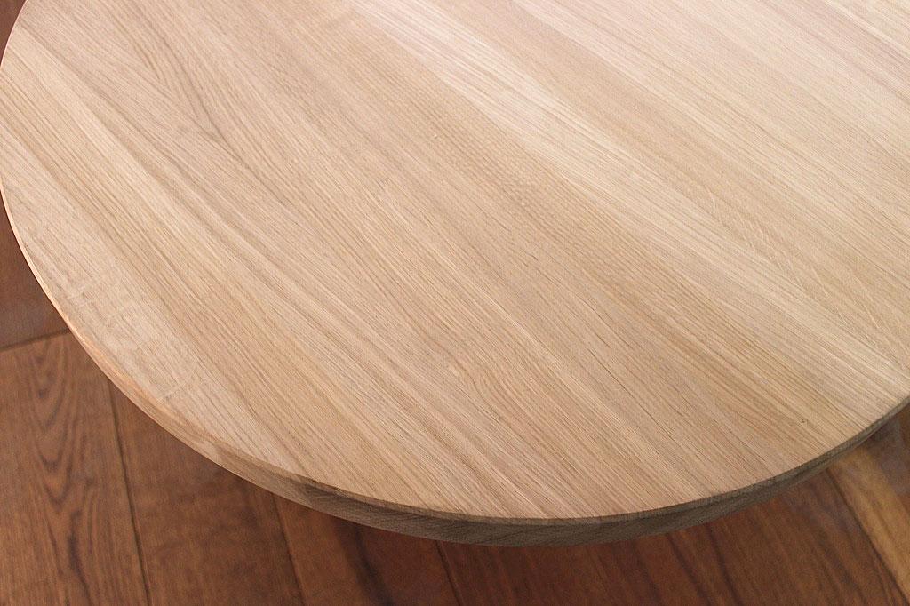 Tischplatte rund  rund / Massivholz Eiche DL 40 mm x diverse Durchmesser