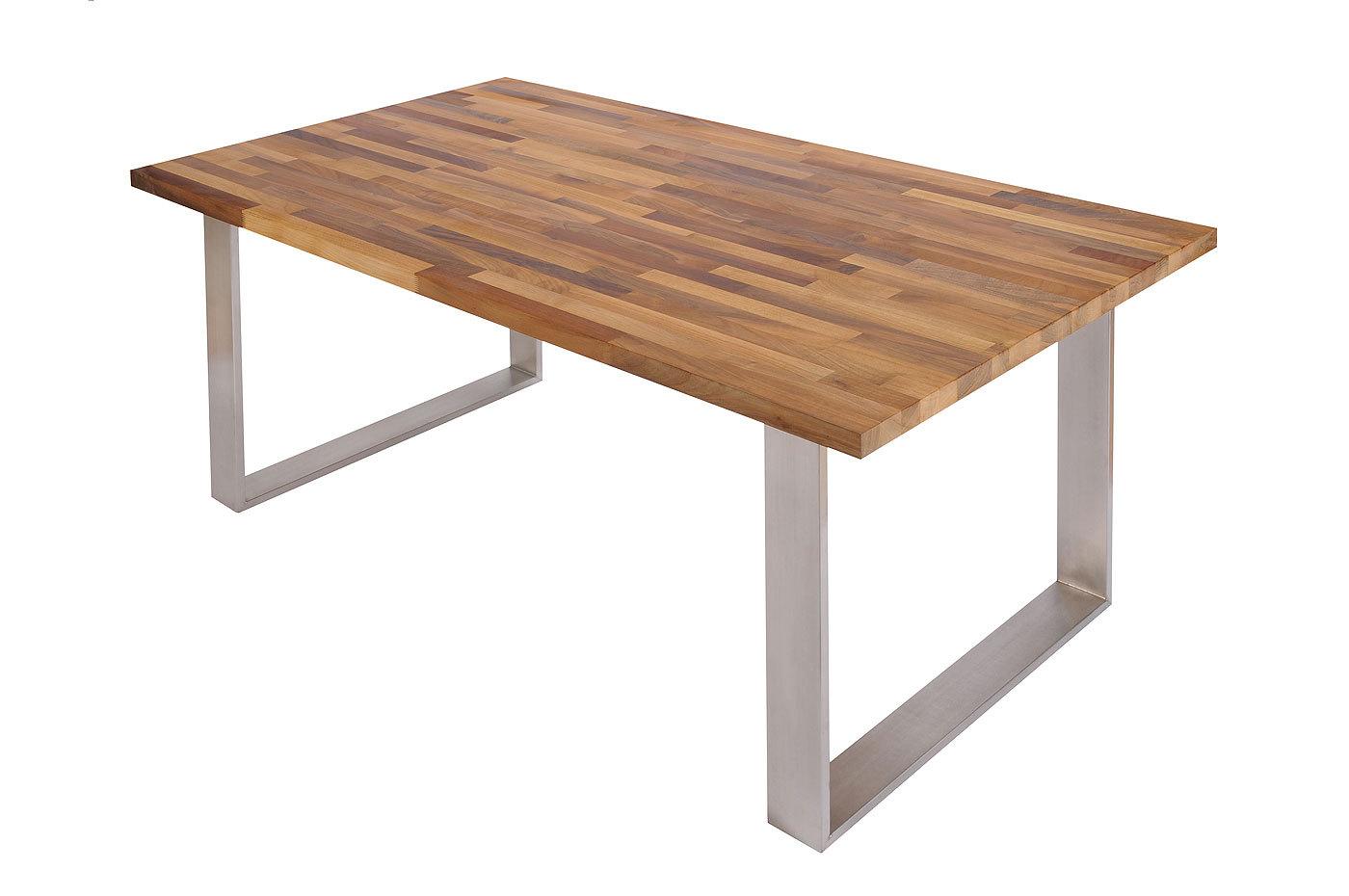 Untergestell kufenbein tischbein edelstahl geb rstet mit befestigungslaschen - Tisch aus arbeitsplatte ...