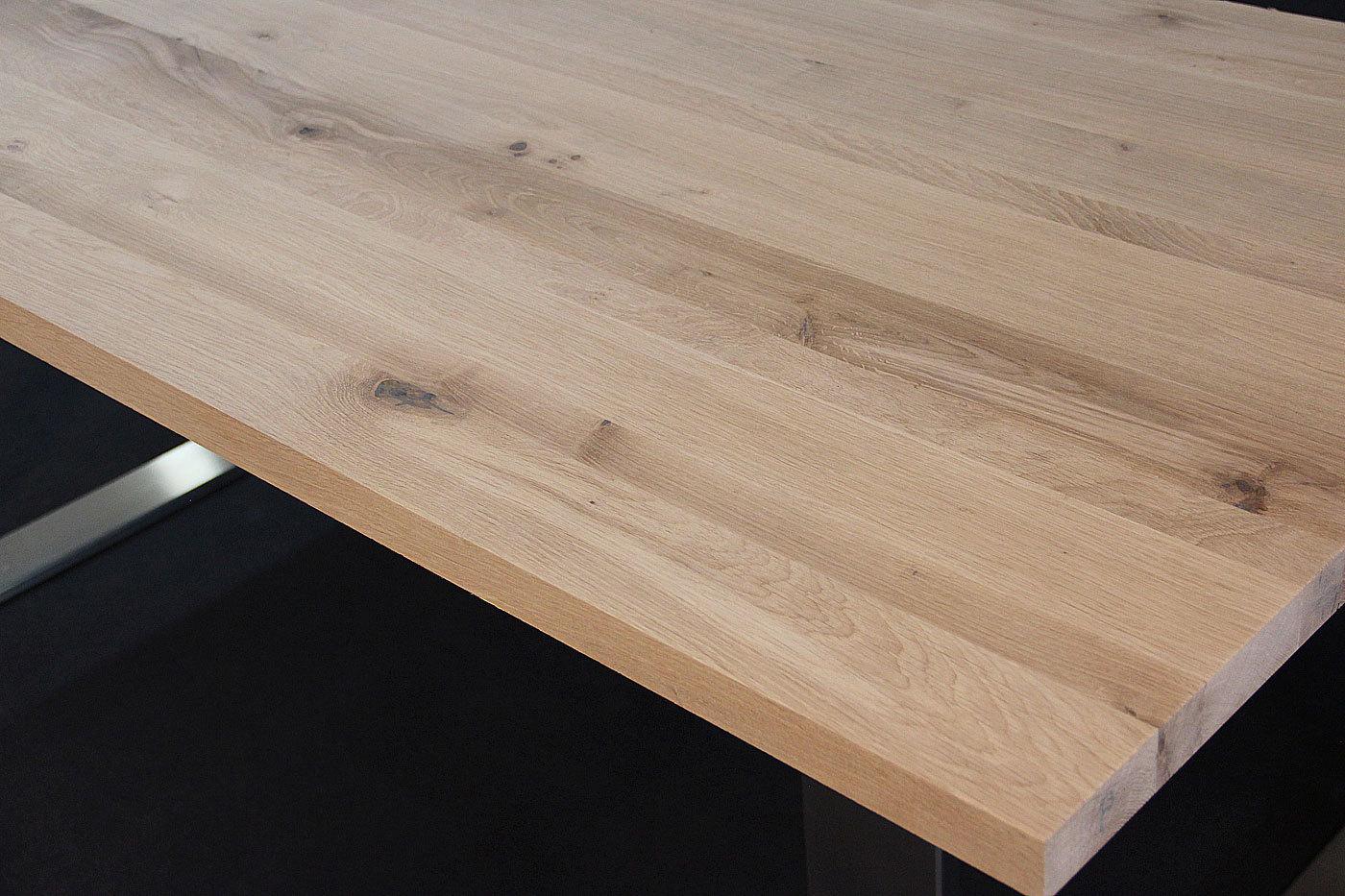 Tischplatte massivholz wildeiche asteiche dl 40 1800 900 for Tischplatte massivholz