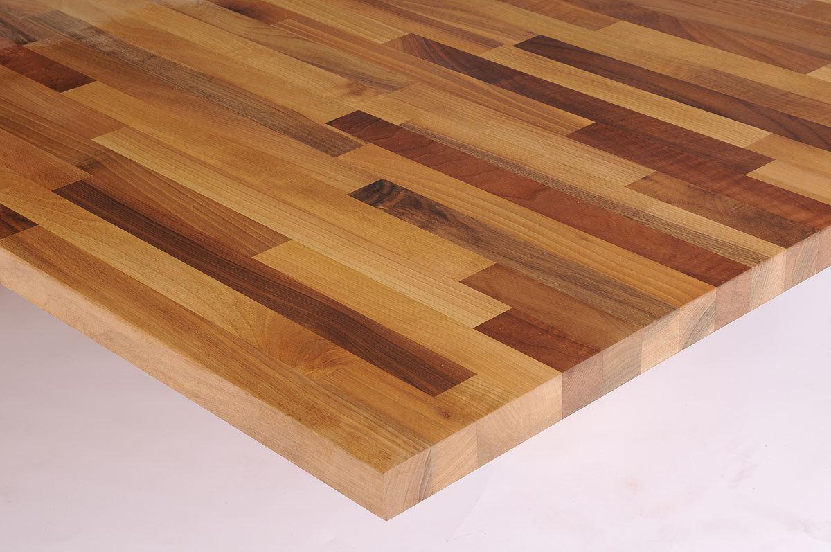Schreibtischplatte massivholz  Massivholz Europäischer Nussbaum kgz FSC® 40/1800/970