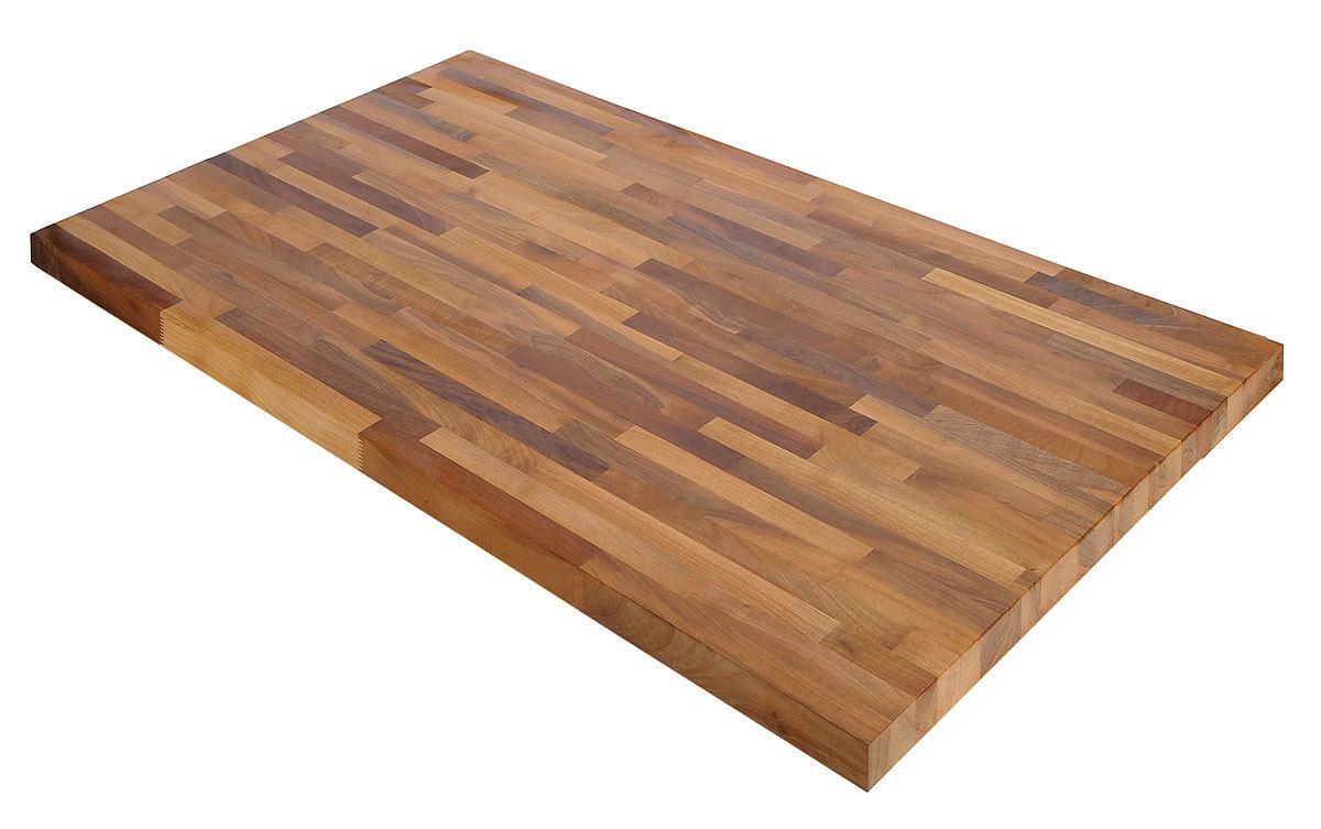 Tischplatte massivholz europ ischer nussbaum kgz fsc 40 for Massivholz tischplatte