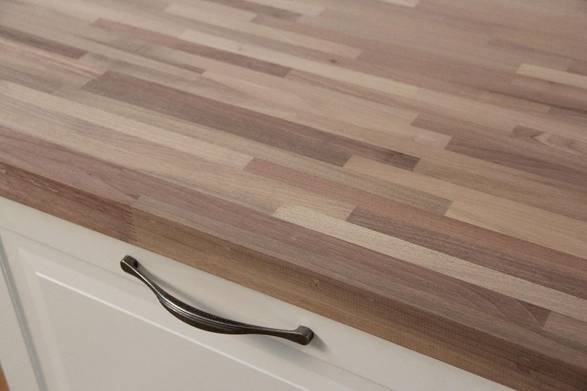 Küchenplatte abschlussleiste  Arbeitsplatte / Küchenarbeitsplatte Nussbaum Fineline 40/4100/650