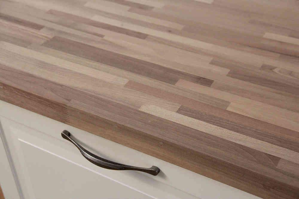 Arbeitsplatte / Küchenarbeitsplatte Massivholz Nussbaum Fineline 40 ...