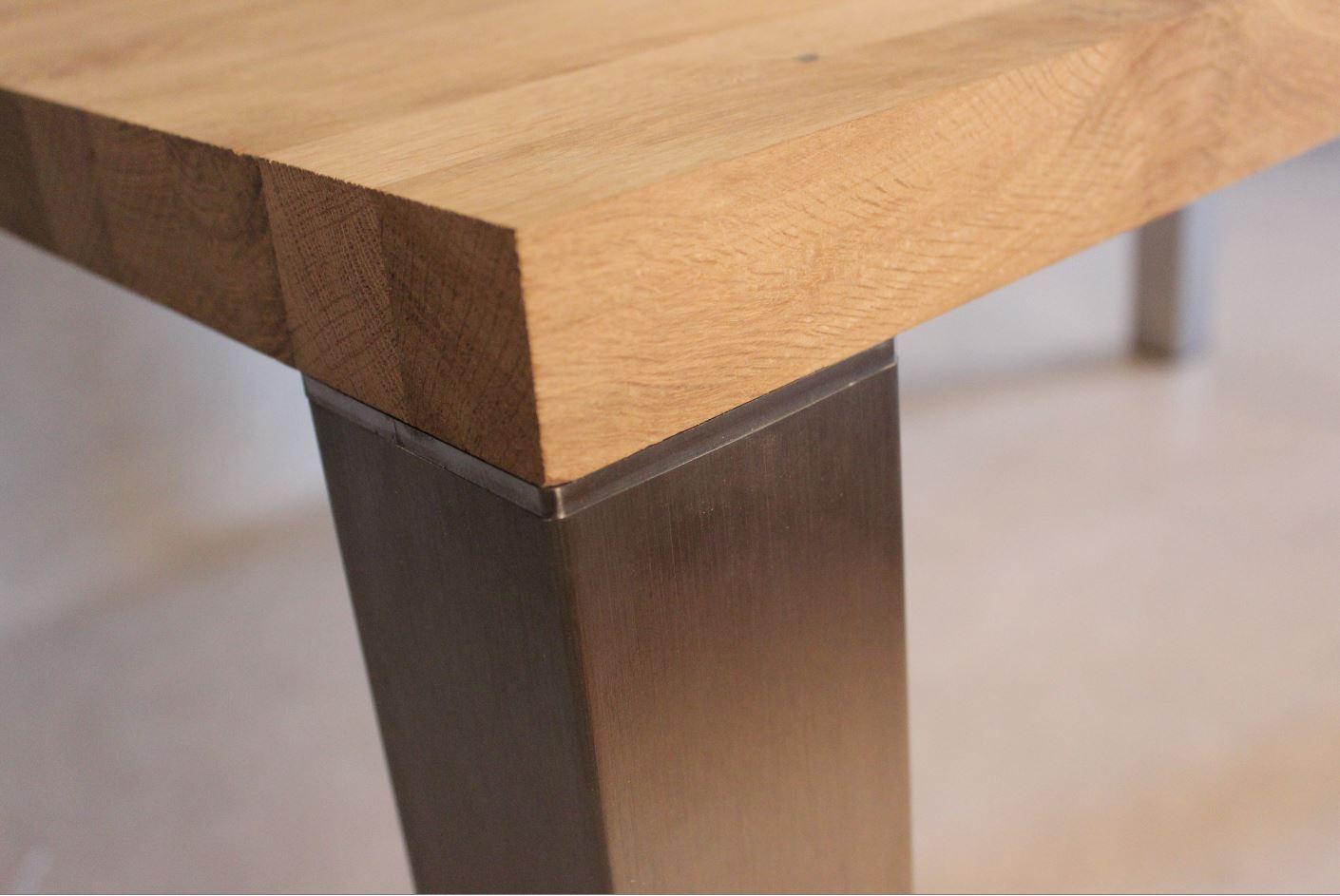 4 tischbeine edelstahl geb rstet quadratisch 80x80mm. Black Bedroom Furniture Sets. Home Design Ideas