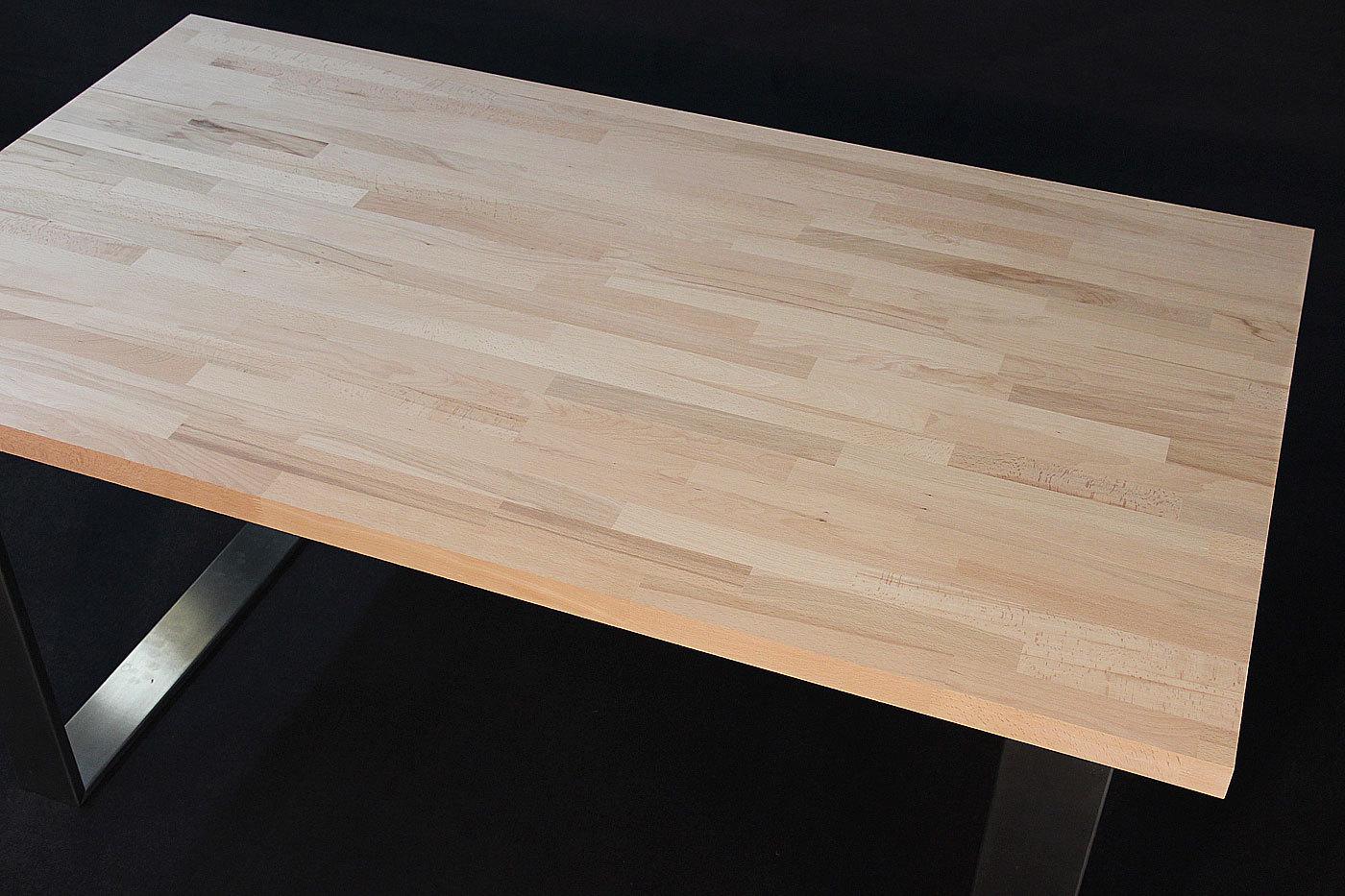 Schreibtischplatte massivholz  Massivholz Kernbuche kgz FSC® 40 x diverse Längen x 1000 mm