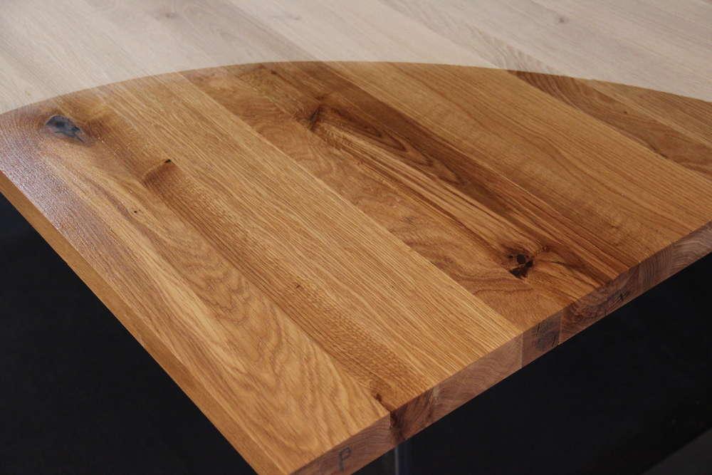 Tischplatte Massivholz Wildeiche Asteiche Dl 40 X Diverse Längen X