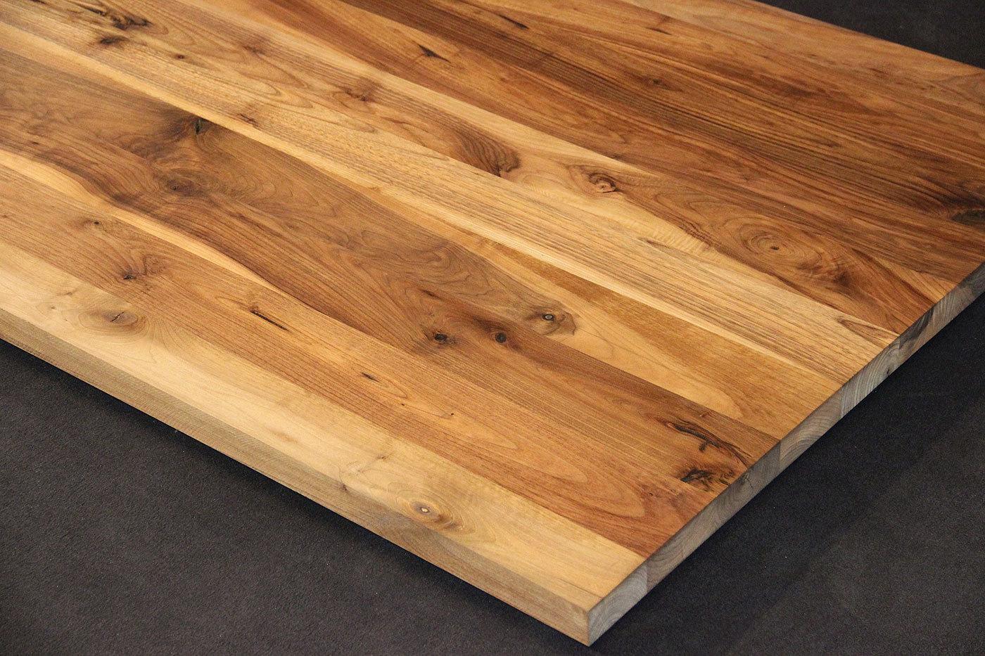 Tischplatte Massivholz Kaukasischer Nussbaum Rustikal Mit Splint Dl