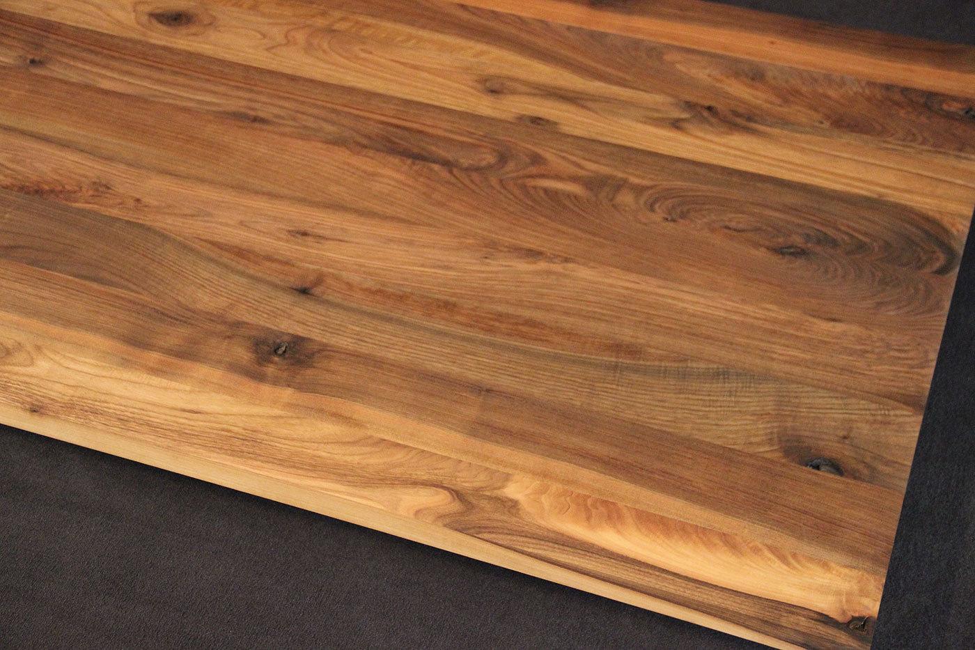 Tischplatte massivholz nussbaum  Massivholz Kaukasischer Nussbaum Rustikal ohne Splint DL 40/1800/1000