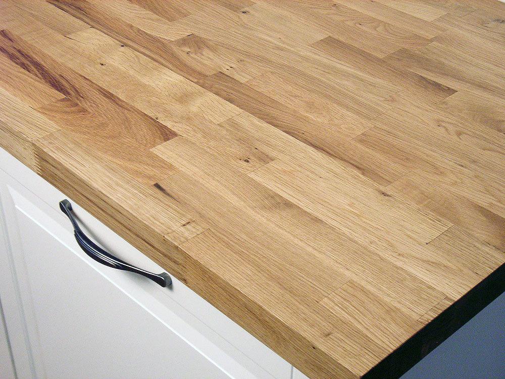Küchenarbeitsplatte Massivholz Wildeiche / Asteiche kgz 40/4200/800