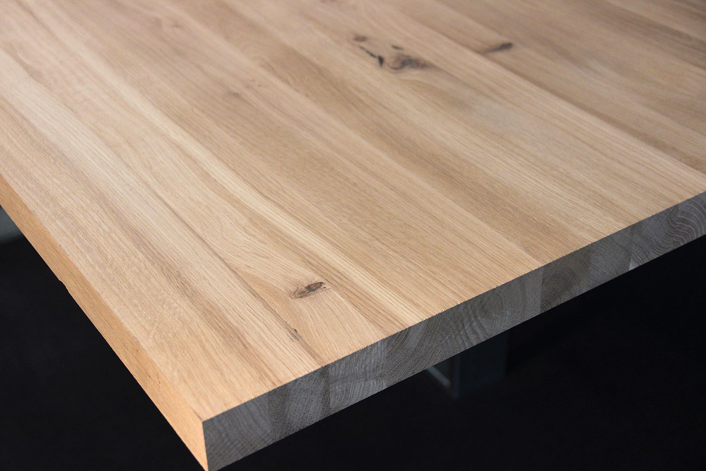 Küchenarbeitsplatte Massivholz Wildeiche / Asteiche DL 40 x ...