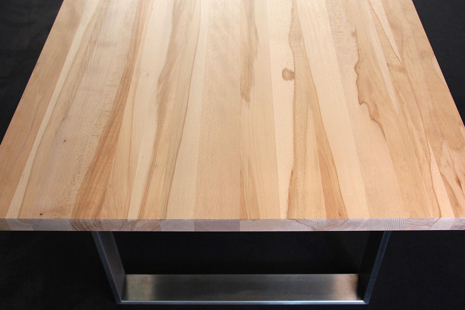 Küchenarbeitsplatte Massivholz Kernbuche natur DL 40 x diverse ...