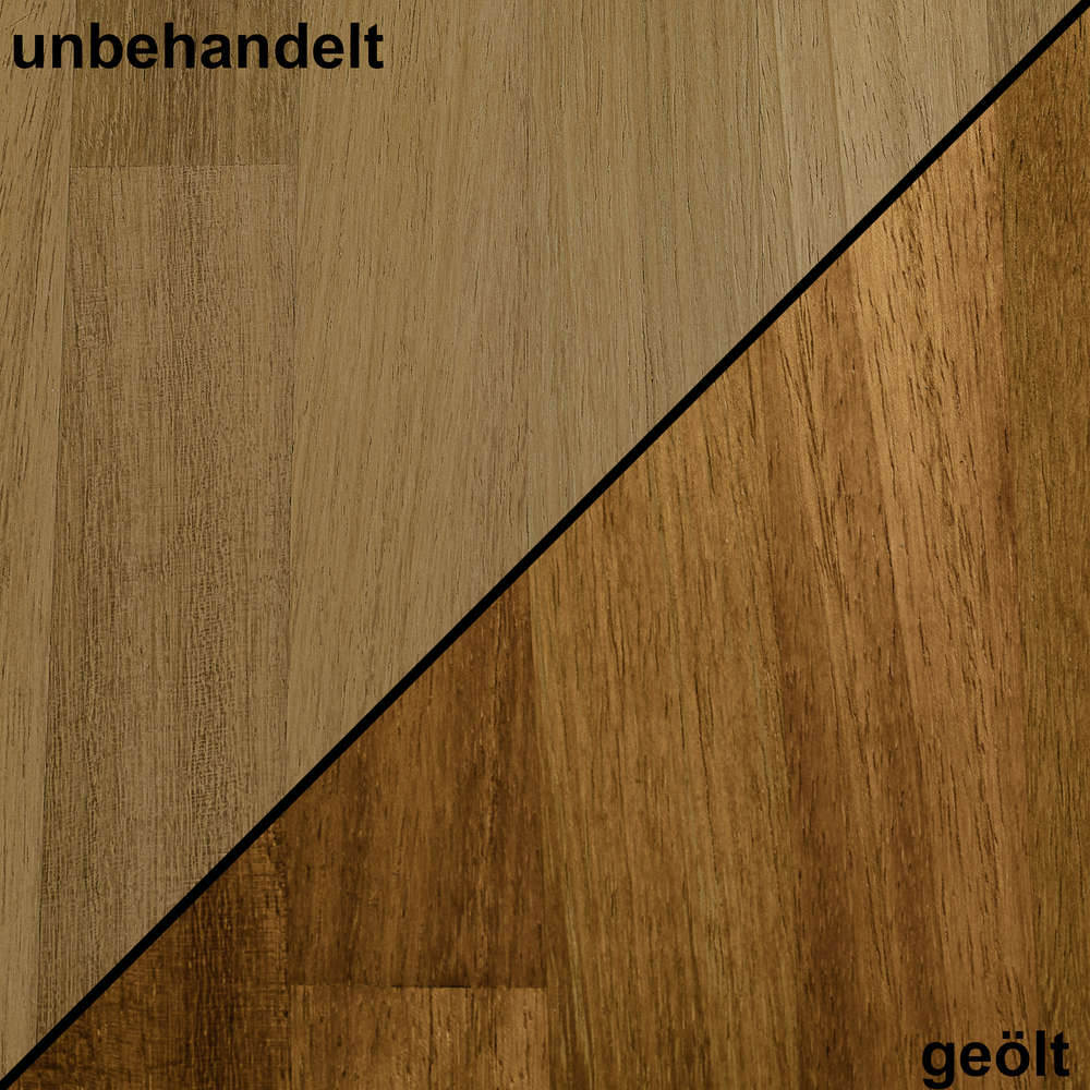 Super Holzmuster / Handmuster Massivholz Iroko kgz UB34
