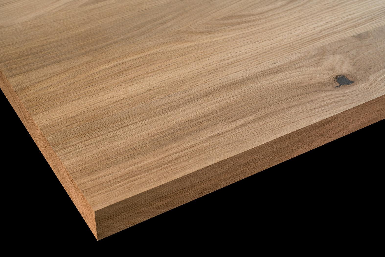Tischplatte massivholz wildeiche natur dl breitlamelle 40 - Tischplatte ecke ...